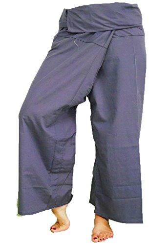 d518f774236 Grey Toray - Men Women Thai Fisherman Pants Yoga Trousers by - Import It All