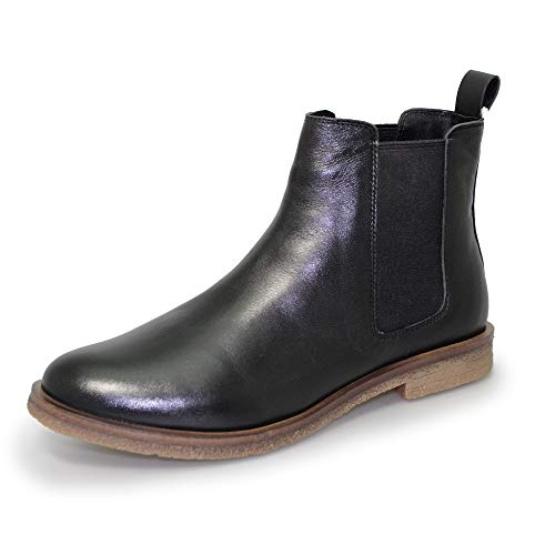 Black Teresa Lunar Boots Leather Chelsea Womens wqwXTnCR