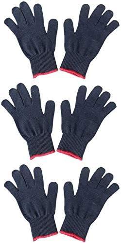 Trysha - 6 guantes profesionales resistentes al calor para peinar el cabello, bloqueador de calor, guantes de algodón negro: Amazon.es: Hogar