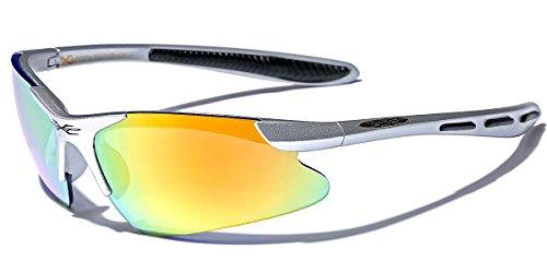 Children AGE 3-12 Half Frame Sports Cycling Baseball Sunglasses - Silver Baseball Sunglasses