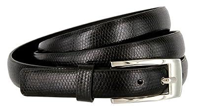 """7045 Women's Skinny Lizard Embossed Leather Casual Dress Belt 3/4"""" = 19mm wide"""