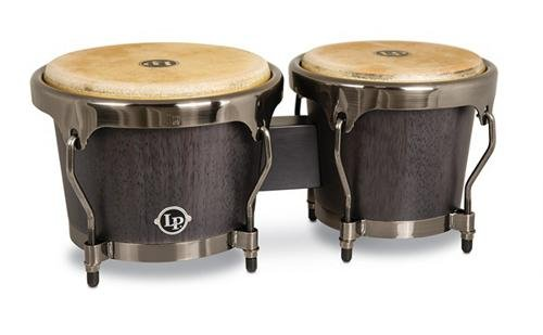 Latin Percussion LPH601-ES Highline Series Bongos Ebony Stain