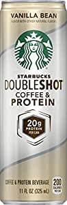 Starbucks Doubleshot Coffee and Protein, Vanilla Bean, 11 Ounce Cans (Pack of 12)