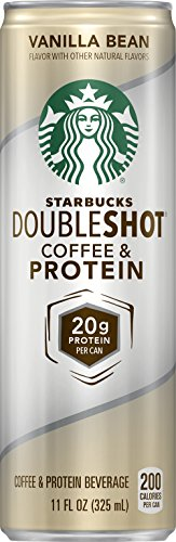 Starbucks Doubleshot Coffee and Protein, Vanilla Bean, 11 Ounce (12 Cans)