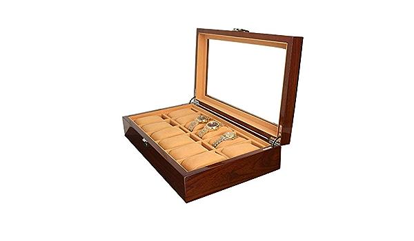Cajas de joyería DJSSH Pintado de Madera de joyería Caja Pulsera de Caja de Almacenamiento Caja de Madera Pantalla Techo Solar Caja de Reloj for Hombres o Mujeres DJSSH: Amazon.es: Hogar