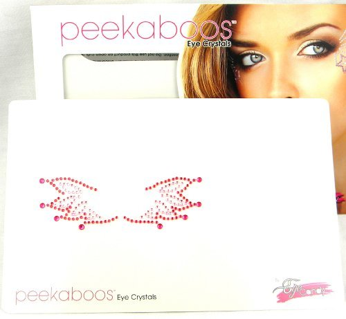 Peekaboos Eye Crystals Red Pink Wings Tattoo Temporary Self Adhesive Flames (Flame Tattoo)