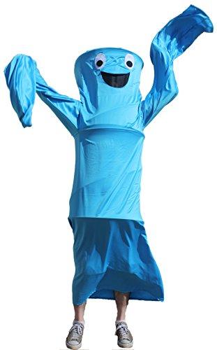 Wacky Waving Arm Flailing Tube Dancer Costume - Blue Danube - (Inflatable Air Dancer Halloween Costume)