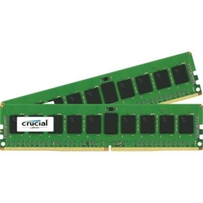 Crucial Technology 16GB (2x 8GB) 288-Pin RDIMM DDR4 (PC4-19200) Server Memory Module Kit, CL=17, Registered, 2400 MT/S Speed, ECC, 1.2V, 1024Meg x 72, Dual Rank, x8 Based ()