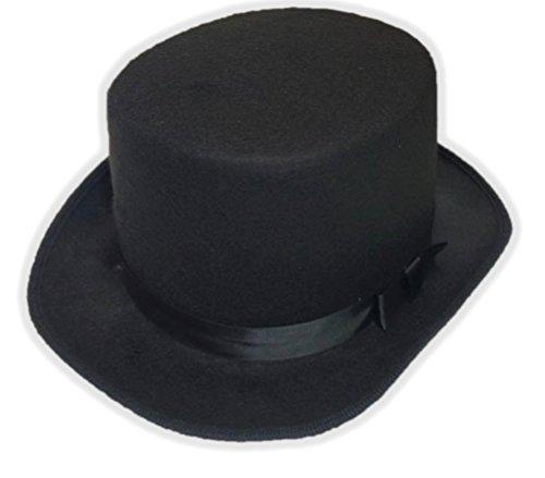Deluxe Felt Black Top Hat - Felt Deluxe Black Top Hat
