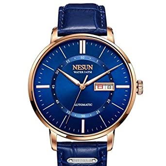 09db87f96d1 Buy Binger Sapphire Relogio Masculino Automatic Mechanical Watch for Men -  N9209-Blue Online at Low Prices in India - Amazon.in