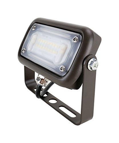 Mills LED 15 Watt LED Landscape Flood Light, Replace 50W Metal Halide, 120-277V, 3000K, Wide Flood Beam, Dark Bronze, Trunnion Mount