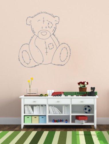 Housewares Vinyl Decal Teddy Bear Animal Home Wall Art Decor Removable Stylish Sticker Mural Unique Design for Nursery Toy Shop Room