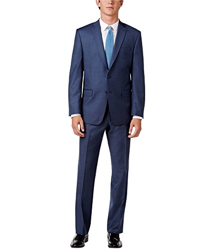 Calvin Klein Mens 2-Piece Tuxedo, Blue, 40 Long / 34W x 39L