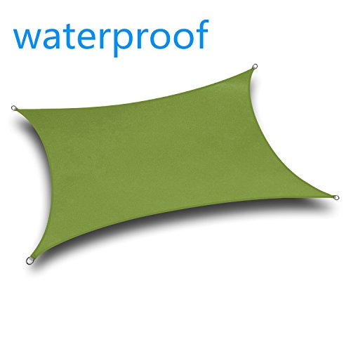 YGS Waterproof 12' x 12' Square Green UV Block Sun Shade Sail Perfect for Outdoor Patio Garden by YGS-SAIL