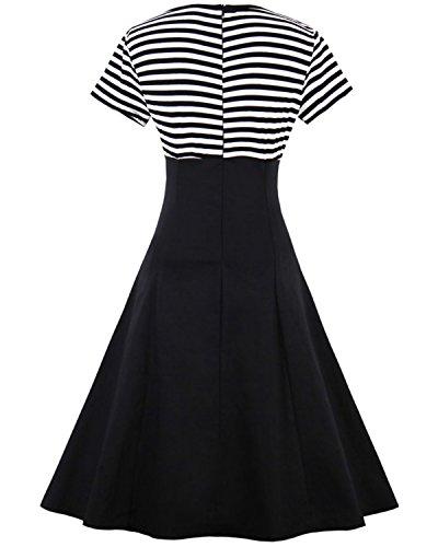 ZAFUL Women Vintage Dress 1950s Nautical Style Summer Sailor Collar  Sleeveless Cute Cocktail Party Swing Dresses 591b2eb008e9