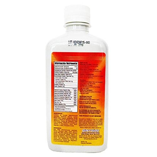 Iron Vitamin & Minerals for Anemia Eliminates Fatigue Increasing Energy Hierro Vitaminado syrup 340 ml elimina la fatiga,previene la anemia