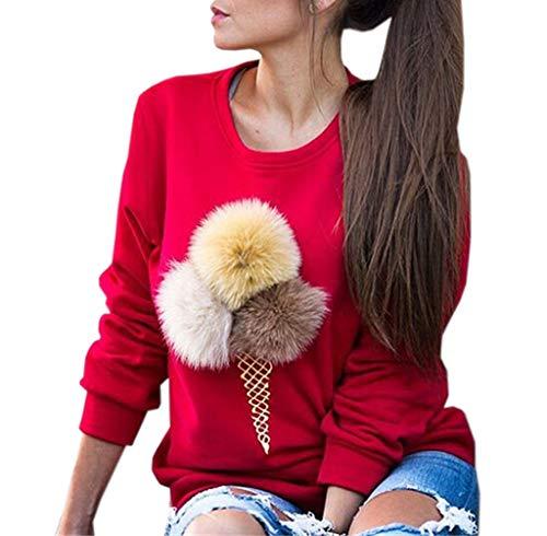 Printemps Jeune Sweat Femmes Fashion Shirts Mode Simple Automne Imprim et 56TxX