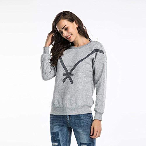 Pull Femmes Tops À Street Les Pour Bow Vêtements Élégant Casual Zhrui Lâche Shirt Over Sweat Blouse Capuche Tops 5XwqO8P