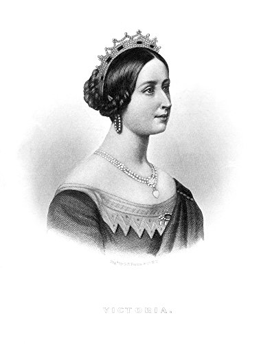 Posterazzi Poster Print Collection Victoria of England./Nqueen of Great Britain 1837-1901. Line and Mezzotint Engraving C1860, (18 x 24), Multicolored