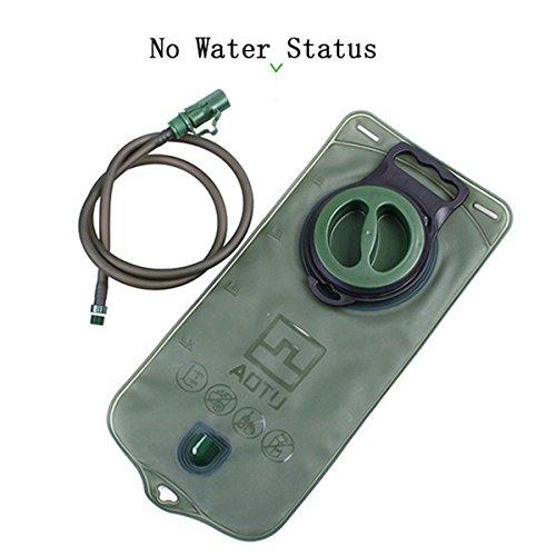 2L Trinkblase Wasser Pack Tasche Reservoir Hydro Packungen tragbar faltbar für Outdoor Sports Radfahren Wandern Klettern Running