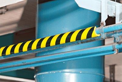 [해외]파이프 보호 범퍼 가드 타입 R1, 스트라이프 블랙 - 옐로우, 셀프 - 접착제, 2 x 39.37/Pipe Protection Bumper Guard Type R1, Striped Black-Yellow, Self-Adhesive, 2  x 39.37