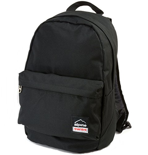 Alpine Swiss Midterm Backpack School Bag Bookbag 1 Yr Warranty Black