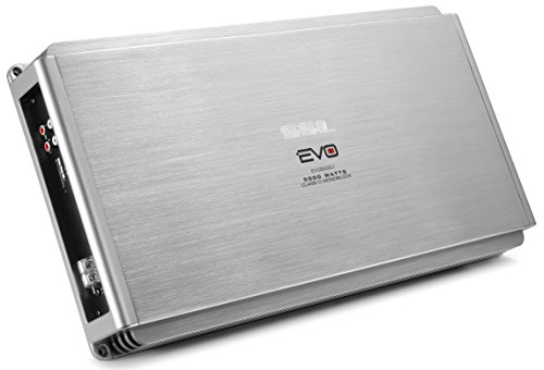 Sound Storm EVO5000.1 EVO 5000 Watt, 1 Ohm Stable Class D Monoblock Car Amplifier with Remote Subwoofer Control