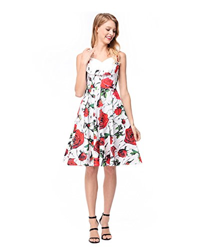 Borje Dresses Dresses Cocktail Print Evening Swing Multicolor Optional Retro 50s Vintage XXL Formal Fashion S rqv0Fr