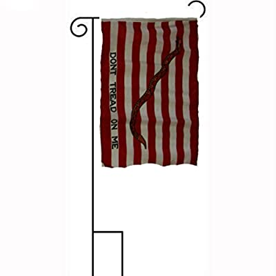 "12x18 12""x18"" First Navy Jack Gadsden Sleeved w/ Garden Stand Flag"