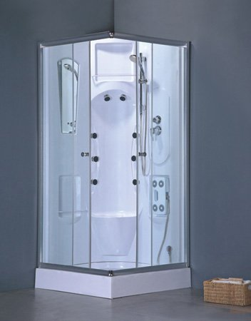 Perfect Heirloom Complete Shower Room (Tray/Tub, Walls, Sliding Doors, Shower Head,  And Massagers)