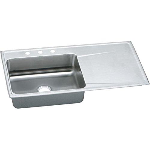 Elkay Single Basin - Elkay ILR4322L3 Lustertone ette Bowl Single Basin Kitchen Sink