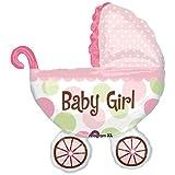 Girl Baby Shower Buggy Balloon Mylar Super shape, Health Care Stuffs