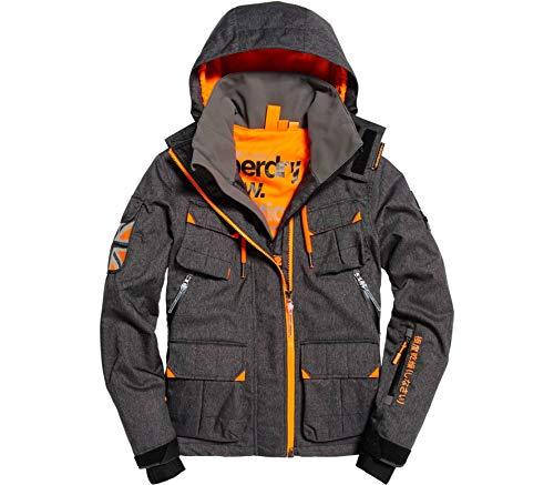 Superdry Snow Service Black Veste Ultimate Gris De Ski Foncé TWcTqrR
