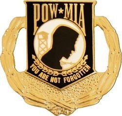 - MilitaryBest POW MIA Wreath Lapel Pin