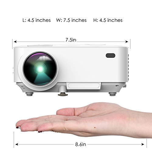 DBPOWER T21 Upgraded LED Projector,1800 Lumens Multimedia Home Theater Video Projector Supporting 1080P, HDMI, USB, SD Card, VGA, AV for Home Cinema, TV, Laptops, Games, Smartphones & iPad by DBPOWER (Image #5)'