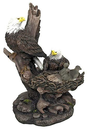Icarus The Bald Eagles Family in Nest Figurine Statue Decor 12