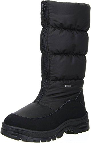 Vista Damen Winterstiefel Snowboots EISKRALLEN schwarz Schwarz