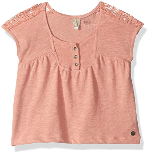 (Roxy Little Girls' Perfect Person Short Sleeve Top, Coral Almond, 3)