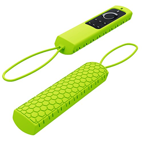 Cheap Sahiyeah for Fire TV Remote Case,Light Weight Anti Slip Waterproof Shockproof Silicone Protective Case Cover Skin for Fire TV and Fire TV Stick Voice Remote 5.9inch with Hand Strap,Green