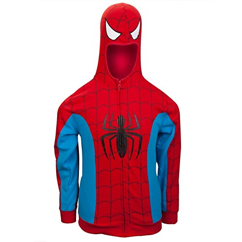 Marvel Spiderman Men's Red Costume Hoody (Large)