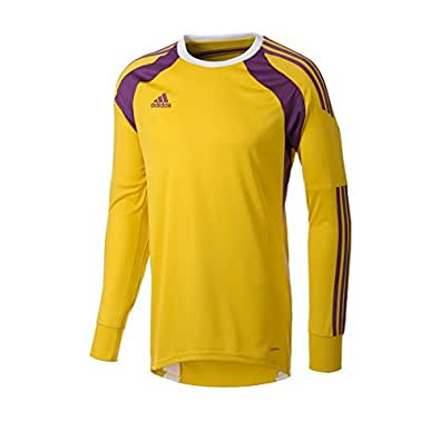ca37276462a adidas New Men's Onore 14 Goalkeeper Jersey Tribe Yellow/Tribe Purple/White  Small