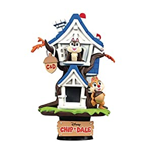 Beast Kingdom Disney's Chip 'N' Dale Treehouse Ds-028 D-Stage Series Statue, Multicolor