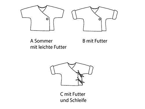 Papier Schnittmuster Baby Wickel-Jacke Fiorino in 3 Varianten für ...