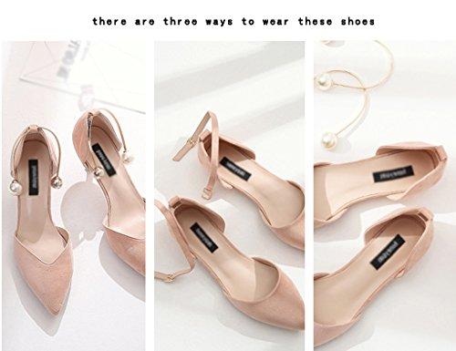 ZCJB Zapatos Zapatos Finos De Altos Para De Sandalias Primavera Planos Mujeres Color Tacones De Punta Tama Con Zapatos Zapatos 36 Pink o Verano De Zapatos Mujer rxnFqX8ar