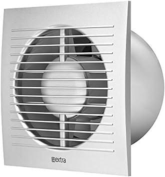 Wand Ventilatoren Abluftventilator Deckenventilator /Ø 100mm Leise Badl/üfter mit Silber Front