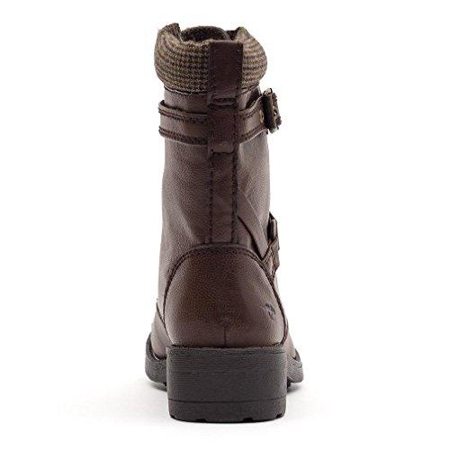 Rocket Dog Womens Thunder Combat Boots Brown YxVle