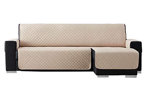 T&R Funda Chaise Longue Acolchada Laia Beige 240 cm: Amazon ...