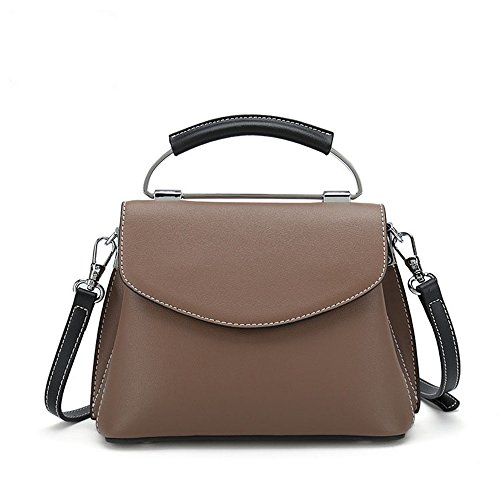 Bag Shopping Solid Leather Color Square Simple Magnetic Shoulder Button Messenger Retro Bag ZOUBzpqZ