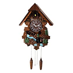 Maple Clocks 16-inches Deluxe Windmill Dancers Cuckoo Clock, Home Decor, with Turning Dancers, Quartz Timepieces - C00166