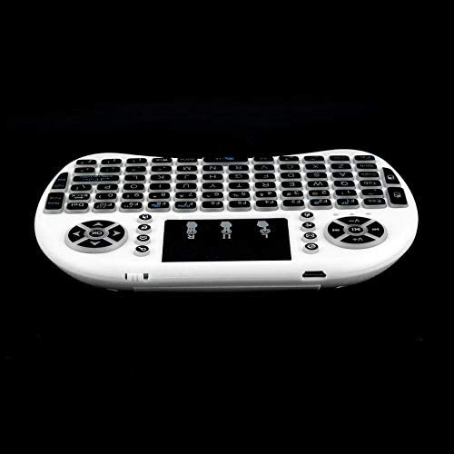 ZicHEXING 2.4GHz Mini Wireless Remote Keyboard with Touchpad Mouse for Android TV Box 3 Color LED Backlight Rechargable Li-ion Battery